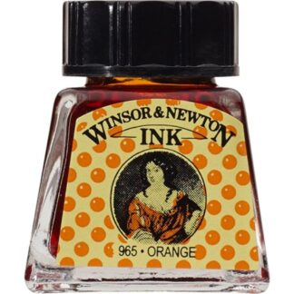 Winsor and Newton Drawing ink 14ml : Orange